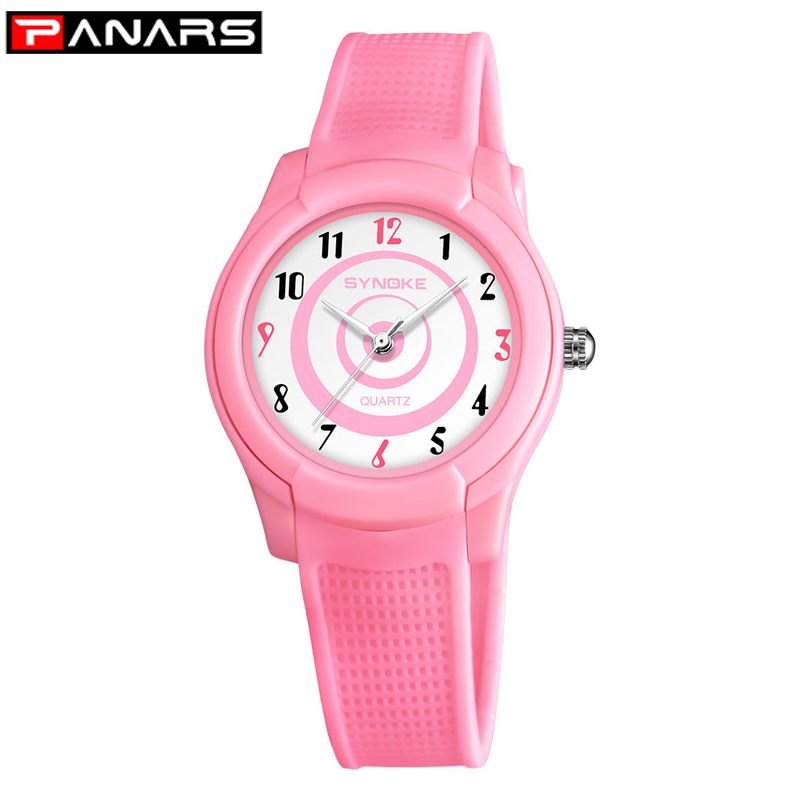 PANARS Children Watch Boys Girls Quartz Watches Sports Cute Pink Plastic Kids Alarm Date Casual Watch Select Gift For Kids