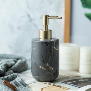 Image 2 - Marble pattern Ceremic Dispenser Nordic bathroom hand sanitizer bottle shower gel bottle bathroom ceramic hand sanitizer bottle