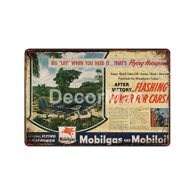 DecorMan Sterling Vacuum Motor oil Tires Power Lube TIN SIGN Custom wholesale Mural Paintings Bar PUB Decor LT 1859 in Plaques Signs from Home Garden
