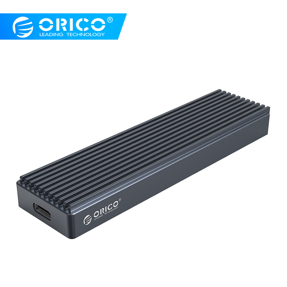 ORICO M.2 <font><b>SSD</b></font> <font><b>Box</b></font> for NVME PCIE M Key M+B Key <font><b>SSD</b></font> Disk USB C 10Gbps Hard Drive Enclosure <font><b>M2</b></font> NVME <font><b>SSD</b></font> Case With Type C to C Cable image