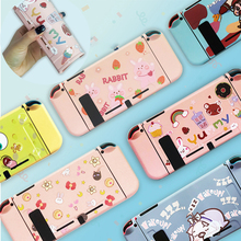 Cover Console-Accessories Switch Cartoons-Shell-Set Nintendo Pink Protective-Case Controller