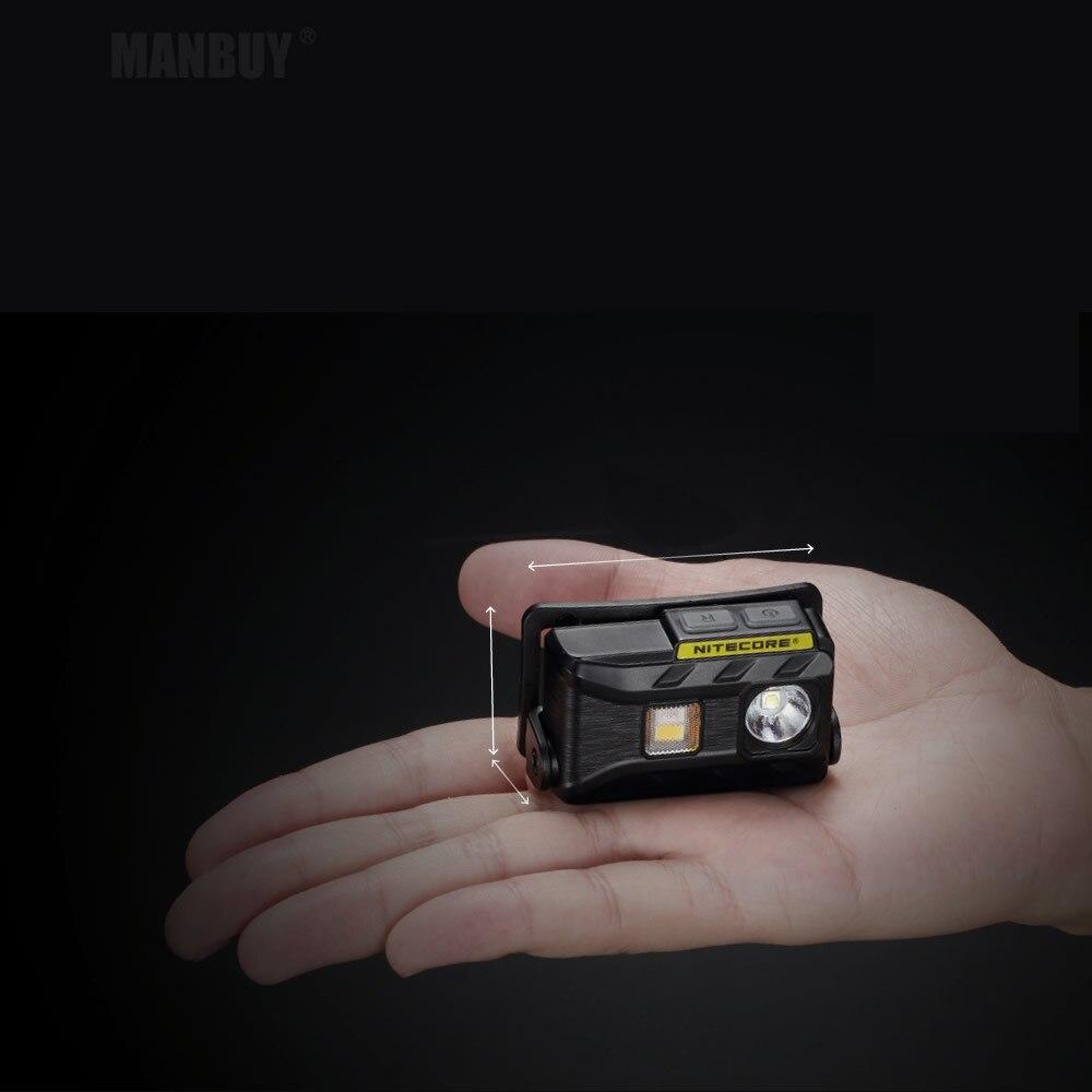 Großhandel Nitecore NU25 Wiederaufladbare Scheinwerfer 360LMs 3 x LEDs Ausgang Licht Gewicht Scheinwerfer Taschenlampe Laufen Outdoor Hut Licht