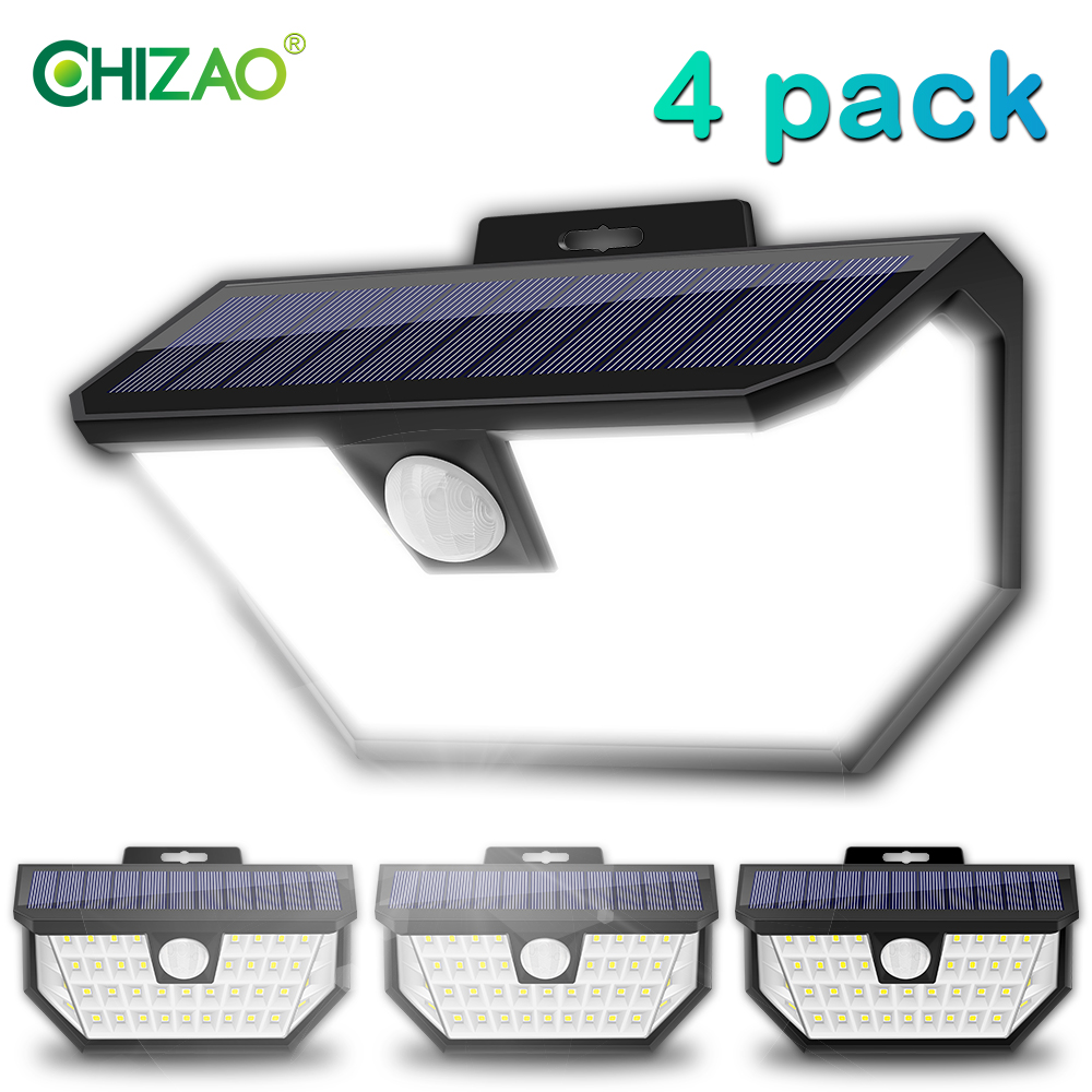 CHIZAO 4 Pack Garden Lights Solar Lamps Outdoor Decorative Light Solar Charging IP65 Waterproof High Brightness Balcony Lighting