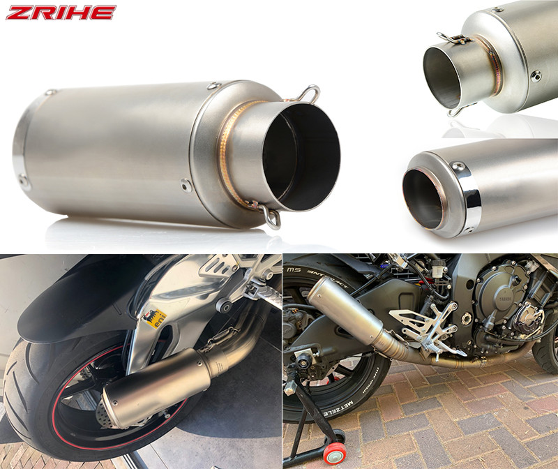 Motorcycle Universally STAINLESS STEEL Accessories 51mm 61mm Exhaust Pipe Tail Segment For Honda Kawasaki Yamaha R1 R3 R6