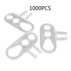 1000 sztuk/worek trwałe użytkowanie 3 otwory styl przewód elektryczny organizer do kabli klamra S kształt zacisk kablowy naprawiono narzędzia na