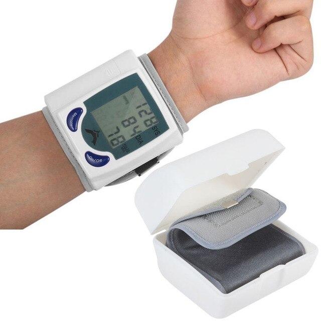 Health Care automatic sphygmomanometer Wrist Cuff blood pressure meter Pulse Monitor machine Heart Beat Meter tester analyser
