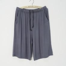 Pants Pajamas Shorts Sleep-Bottoms Modal Men's Soft BZEL Comfortable Loose Plus-Size