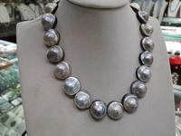 19''20mm white South Sea Mabe Perla Mabe Chiusura Mabeizhu Necklace Pendant