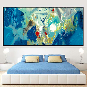 100% Hand Painted Abstract Color Art Oil Painting On Canvas Wall Art Frameless Picture Decoration For Live Room Home Decor Gift