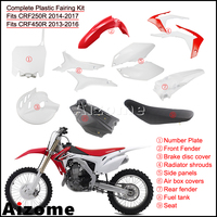 1Set Dirt Bike Enduro Plastic Fairing Cover Bodywork Fairing Kit For Honda CRF250R 2014 2017 CRF450R 2013 2016 w/ Fuel Tank Seat