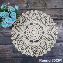 Round Tablecloth Placemat Coffee Coaster-Decor Crochet Wedding-Doily Handmade Dining