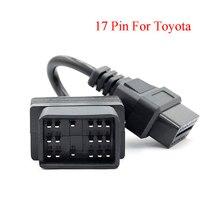 Adattatore per Toyota car 17 pin obd2 a 16 pin, adattatore OBD2, cavo adattatore OBD2, adattatore diagnostico OBD2
