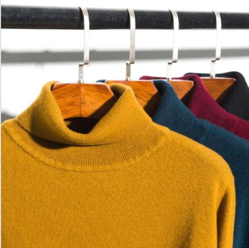 Men's High Collar Long Sleeve Winter Warm Sweater Turtleneck Pullover Solid G21