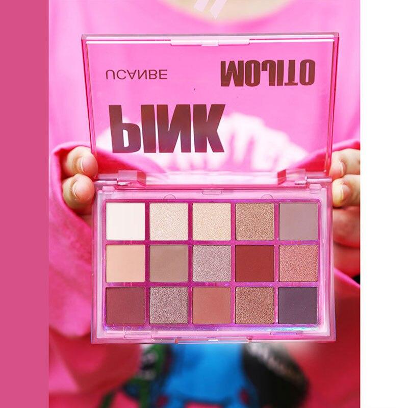 15 cores paleta de sombra perolado brilho fosco cor sombra maquiagem para os olhos hjl2019