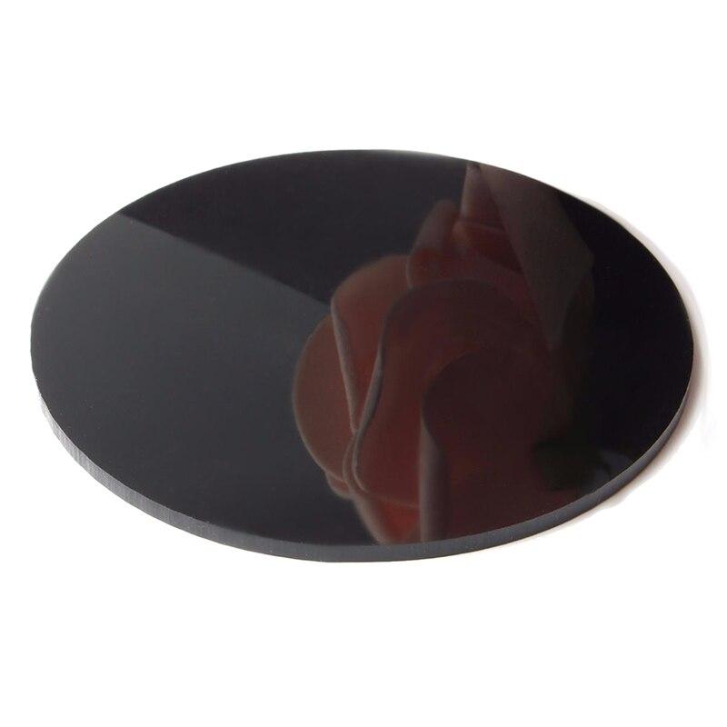 3mm Thick Mirror Acrylic Round Sheet Black Diameter 200mm