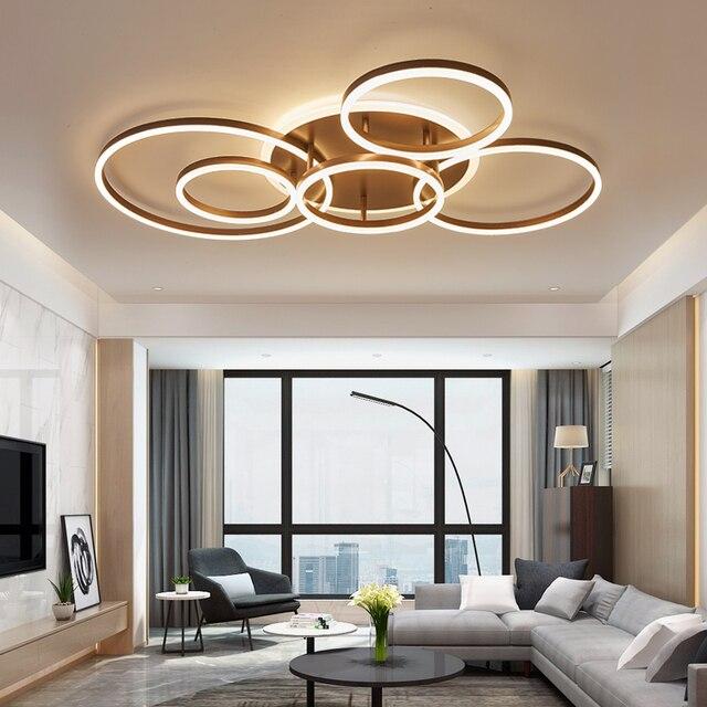 브라운/화이트 led 샹들리에 거실 침실 부엌 샹들리에 inddor 홈 조명 현대 샹들리에 조명 lampadari 샹들리에 등 & 조명 -