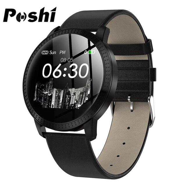 フィットネストラッカースマート腕時計心拍数モニタースポーツ腕時計男性用女性ブレスレット POSHI アンドロイド iOS レロジオ masculino