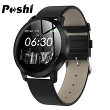 POSHI reloj inteligente deportivo para hombre y mujer, pulsera deportiva con control del ritmo cardíaco, Android e iOS, masculino