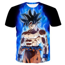 Boys Goku 3d Printed T-Shirt Summer O-neck Anime T shirt Children Short Sleeve Harajuku Cartoon Tshirts Casual Manga Tops Shirts