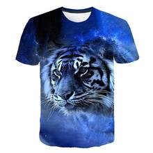 2021 casual hip-hop 3D printing animal/anime sleeve round neck T-shirt 3D pattern hip-hop personality T-shirt for men and women