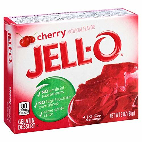 Cherry Flavour Jell-o - 4 X 85g Pack - American Jelly …