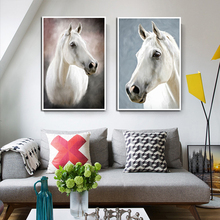 Modern Horse Painting Wall Pictures for Living Room Canvas Painting Animal Wall Art Pictures Posters and Prints Home Wall Decor недорого