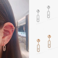 925 Sterling Silver Move Uno ear studs famous brand Fine jewelry For mother women wholesale Messika Earrings new arrival