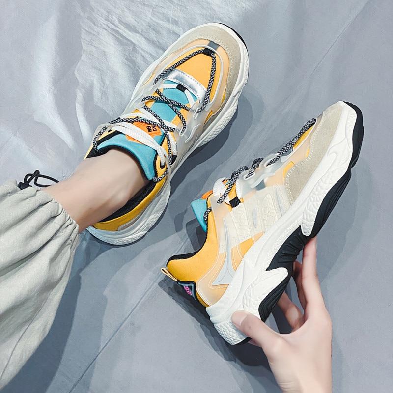 Plastics Men Casual Shoes Fashion Sneakers For Man 2020 New Arrival Me Mixed Colors Spring Tide Shoes Platform Men's Light Shoes