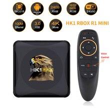 HK1 RBOX R1 Mini Thông Minh Android 10 TV Box 4GB 64GB Rockchip RK3318 1080P Google Play Youtube HK1 Hộp Set Top BOX 4K Đa Phương Tiện