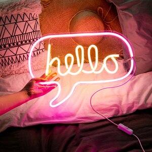 Image 3 - Luce al Neon Neon Sign Pannello Luce di Notte del USB Alimentato INS di Figura Romantica di Nozze Partito di Festa Della Decorazione Fata Lampada Ala di Banana
