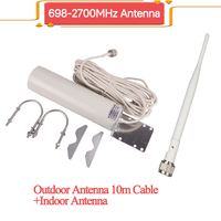 ZQTMAX 12dBi 2g 3g 4g antenna for umts lte cellular signal booster 2600 mhz dcs wcdma gsm repeater internet amplifier