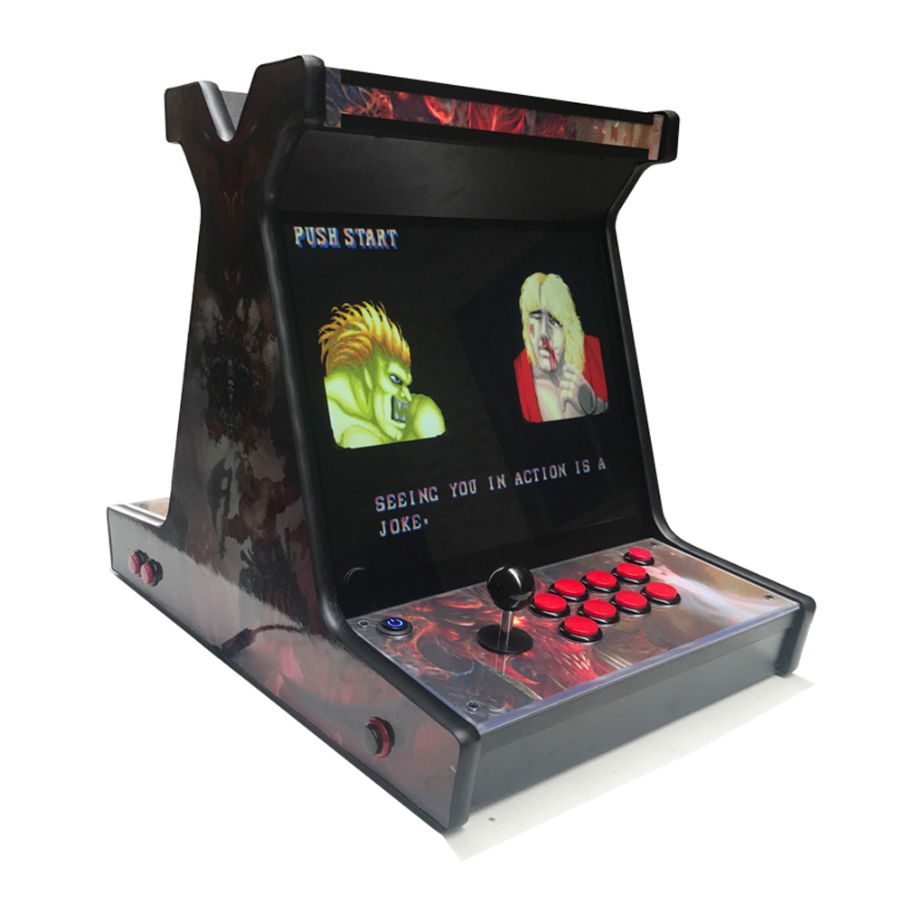 2020 Year 2 Players 17 Inch Arcade Cabinet Fighting Video Game Machine For Sale