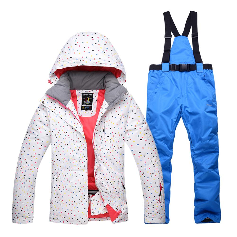 2019 New Fashion Women Ski Suit Waterproof Windproof Skiing And Snowboarding Jacket Pants Set For Snow Sports Extreme Sports