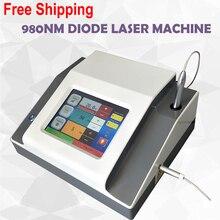 O laser vascular profissional do diodo da remoção 980nm de 30 w para os vasos sanguíneos remove o laser vermelho do diodo da remoção 980nm da veia da aranha