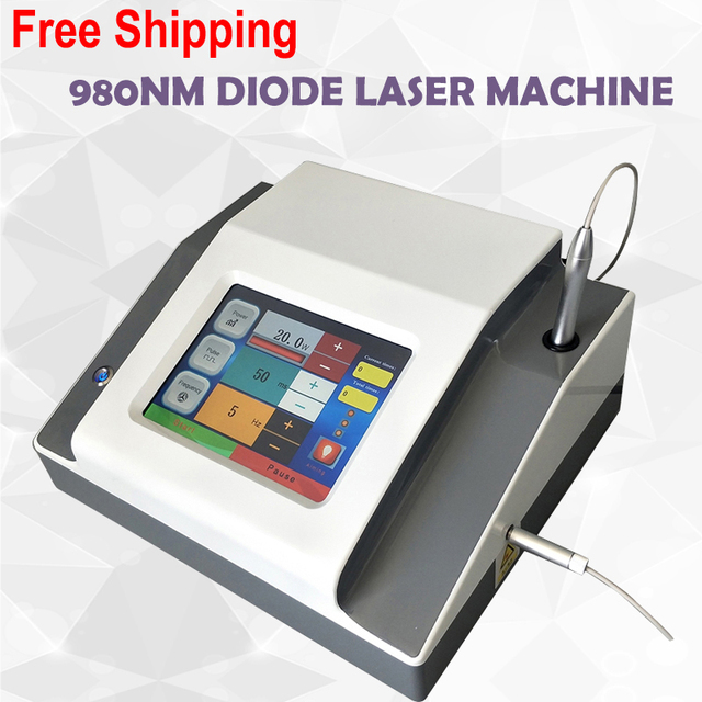 Professional 30W vascular removal 980nm diode laser for blood vessels remove red spider vein removal 980nm diode laser