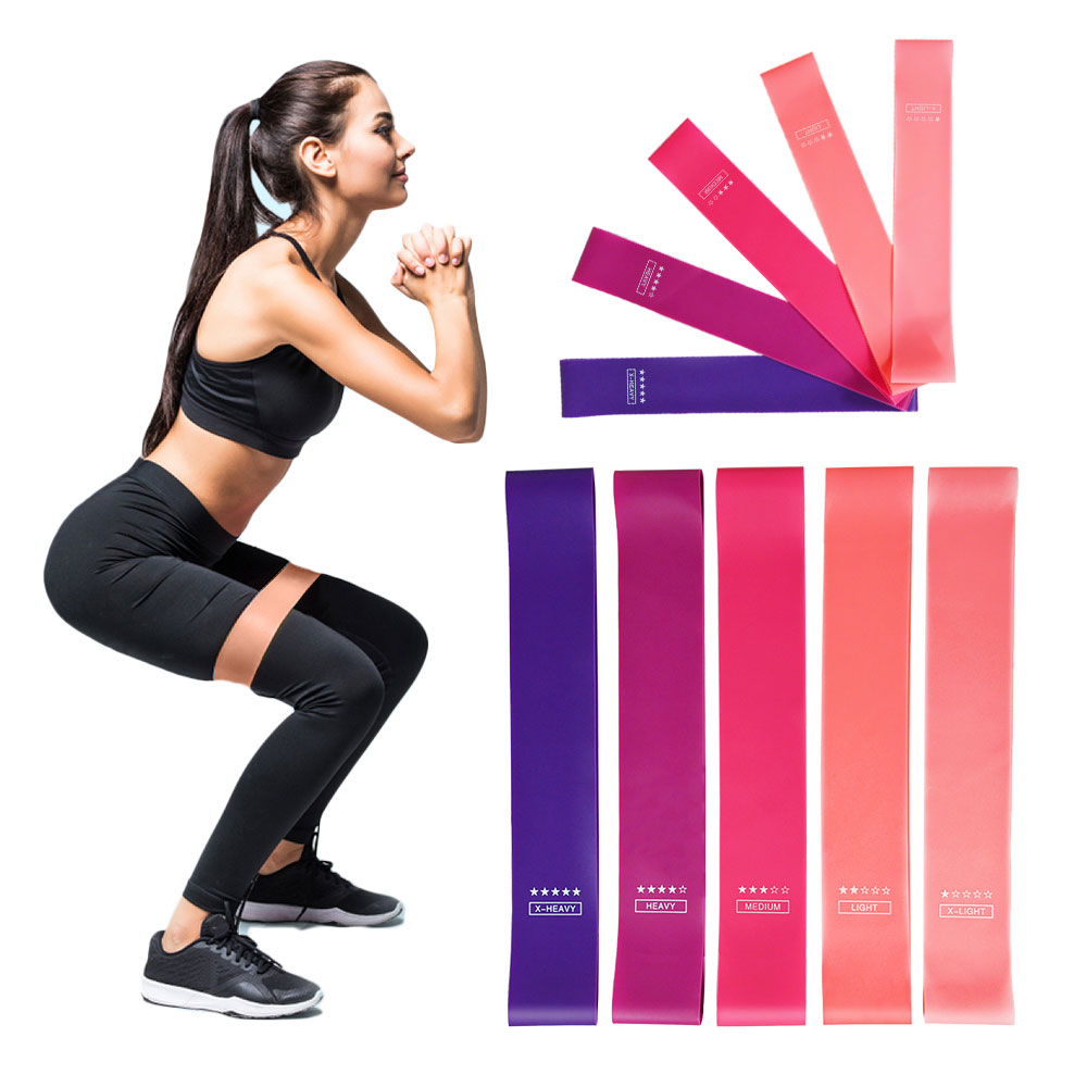 Mini Loop Resistance Bands Rubber Yoga Pilates Stretch Training Band For Home Gym Rehab Physical Therapy Rehab Workout Exercise