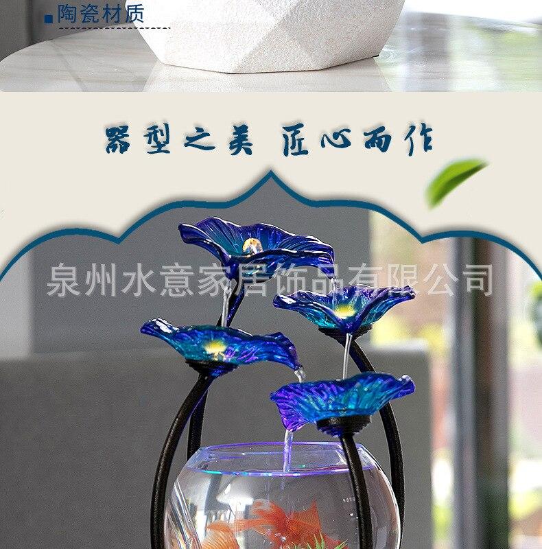 Vidro Tanque de Peixes de Ouro Sala