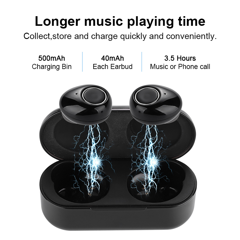 Wireless Headphones Bluetooth 5 0 Earphone TWS Stereo Sound Headset Auto Connect Mini Bass Earbuds for Sports with Charging Bin in Bluetooth Earphones Headphones from Consumer Electronics