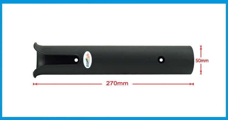 Caña de pescar de plástico ABS, caña de pescar ligera y portátil, accesorios giratorios, soporte duradero, soporte de montaje en tubo