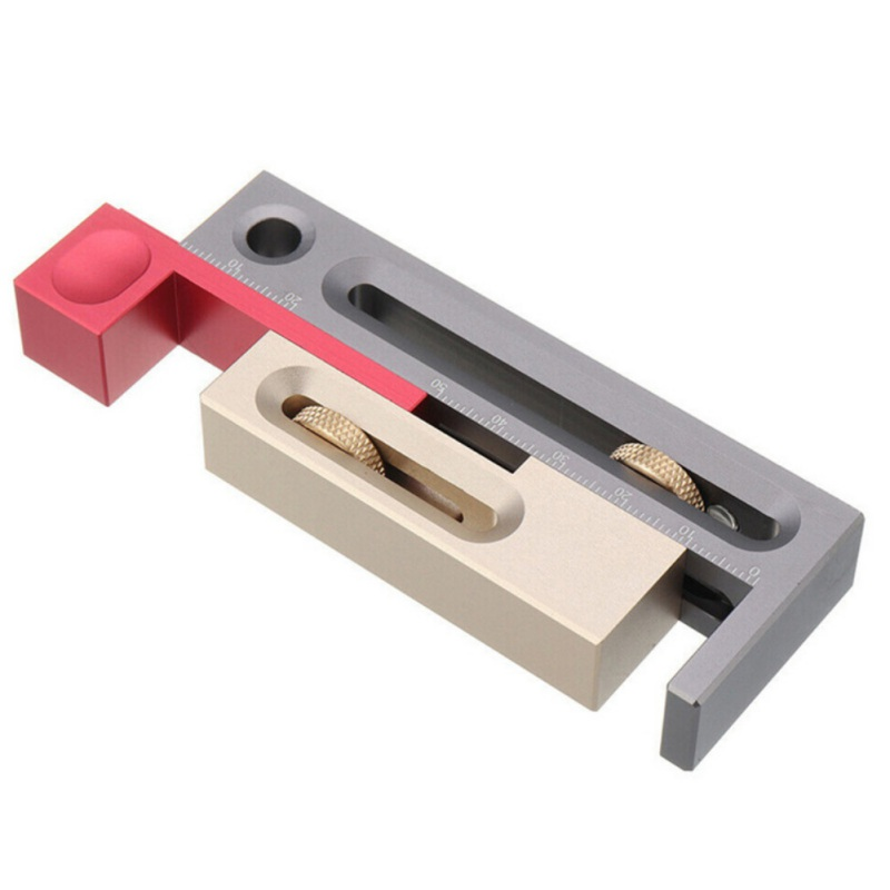 Woodworking Table Saw Gap Slot Regulator Slot Ruler Make The Mortise Tenon Movable Measuring Block Length Compensation Tool Drop