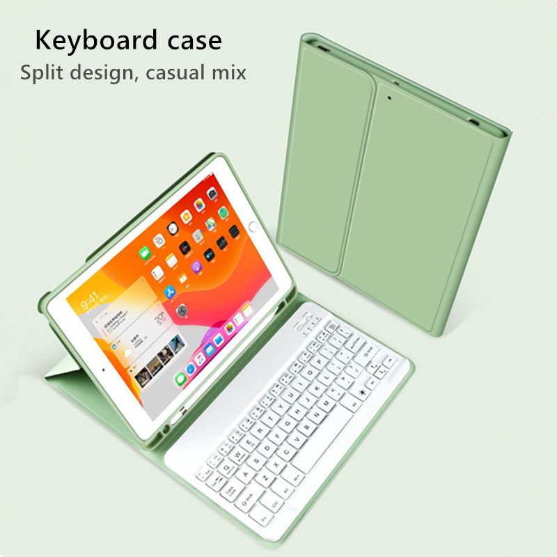 Bluetooth Keyboard Case For Apple iPad 10 2 2019 7th Generation PU Leather Cover for iPad