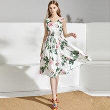 Summer 2020 dress new ladies dress V-neck stretch waistline
