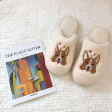 Dog Plush slippers women men Home Slippers