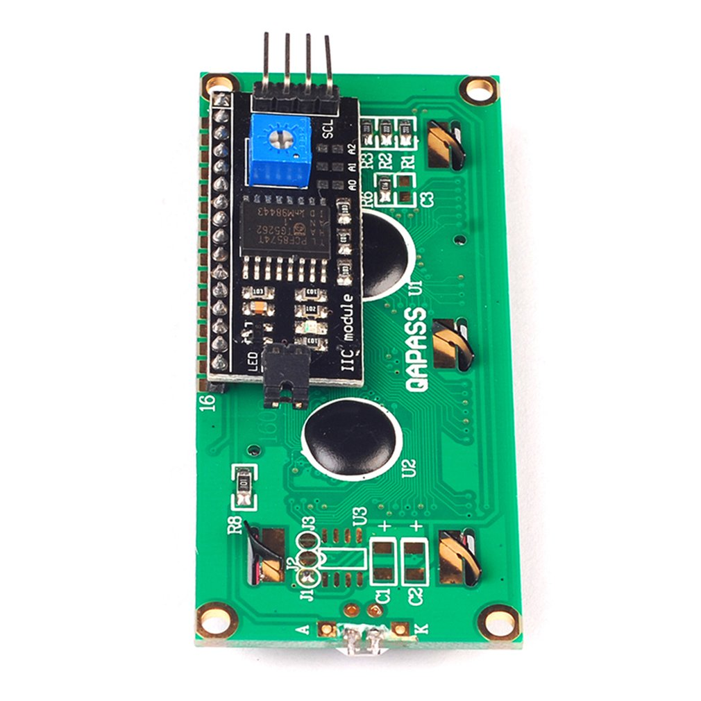Iic/I2C 1602 Lcd Module Blue Screen Provides Library File Optical Display Module Ultra-Small Low-Power