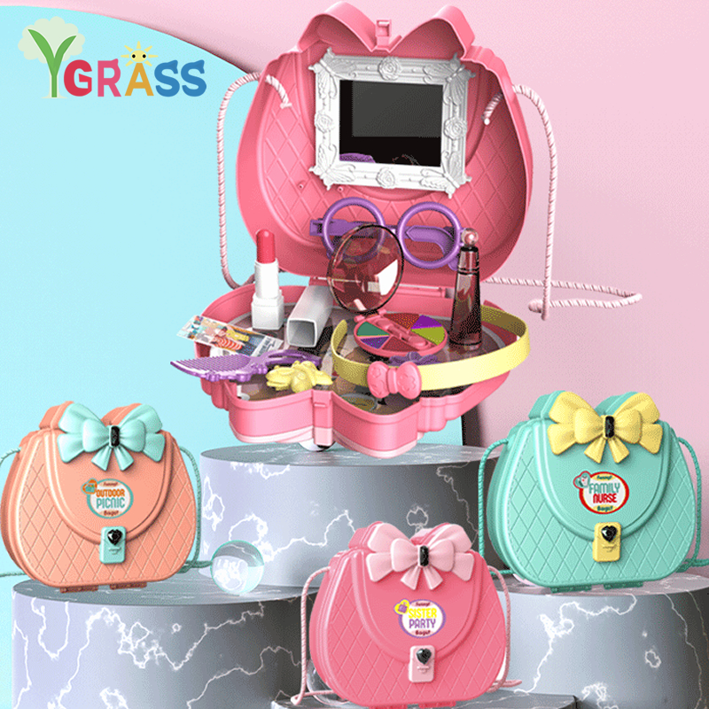 Pretend Play Doctor Toys Makeup Set Kids Kitchen Cake Simulation Medical  Accessories Children Play Storage Box For Girls
