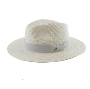 Image 4 - Big Head Man Large Size Panama Hat Lady Beach Sun Cap Male Fedora Hat Men Plus Size Straw Hat 55 57cm 58 59cm 60 62cm 62 64cm