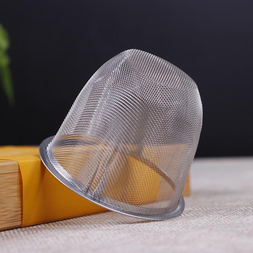 Diameter 5.1-9 CM Mesh Tea Infuser Reusable Tea Strainer Stainless Steel Teapot Leaf Spice Filter Drinkware Kitchen Accessories