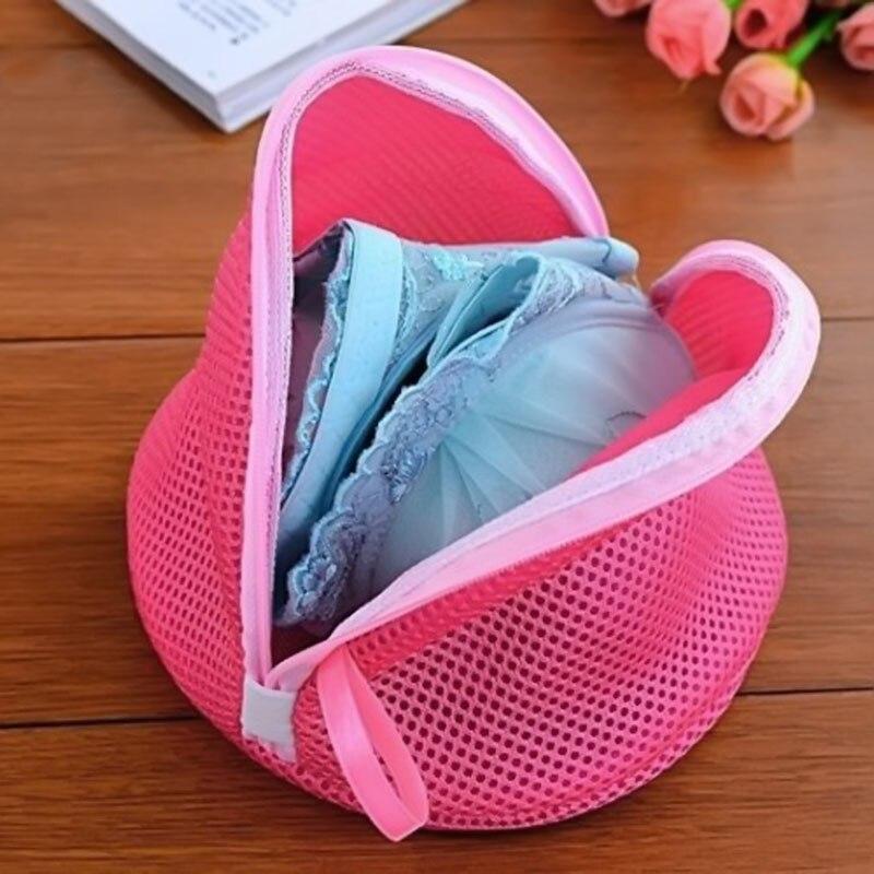 1 Pcs Pink Modern High Quality Women Bra Laundry Lingerie Washing Hosiery Saver Protect Mesh Small Bag DROP SHIP