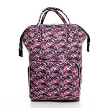 Pink Pattern Mother Baby Backpack