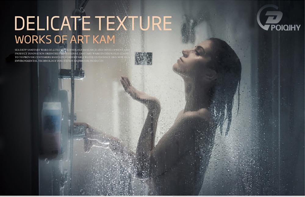 H6b27b692d23542439b0f3661afe8e74eL POIQIHY Black Bathroom Shower Faucet Set Wall Mount Black 8''Rainfall Shower Head With Handheld Sprayer Bathtub Shower Mixer